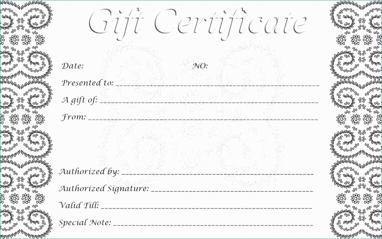 Printable Gift Voucher Template Free | Panglimaword.co - Free Printable Gift Certificates For Hair Salon