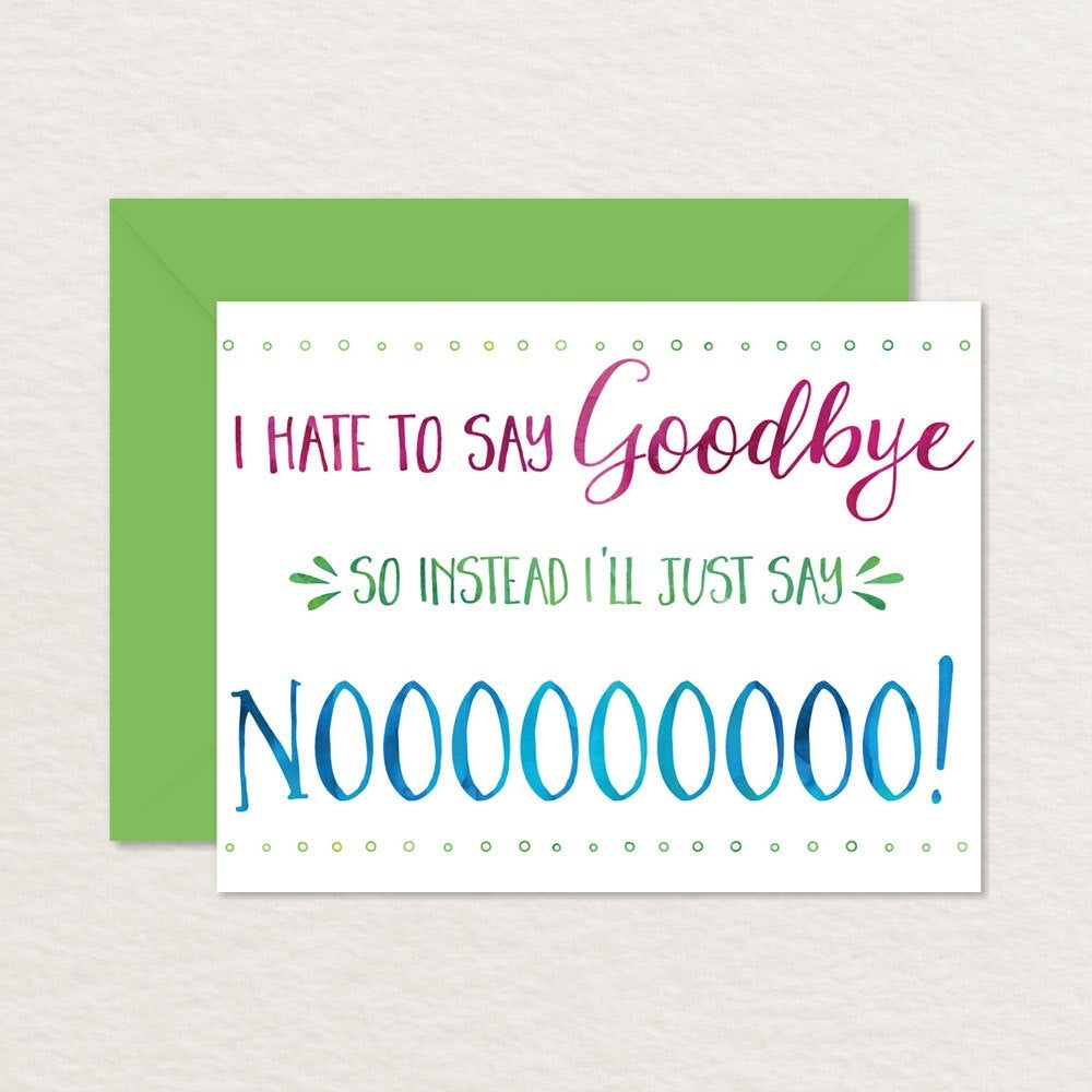 Printable Goodbye Card / Funny Goodbye Card / Printable | Etsy - Free Printable Goodbye Cards