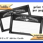 Printable Graduation Advice Cards Advice For Graduate Cards | Etsy   Free Printable Graduation Advice Cards