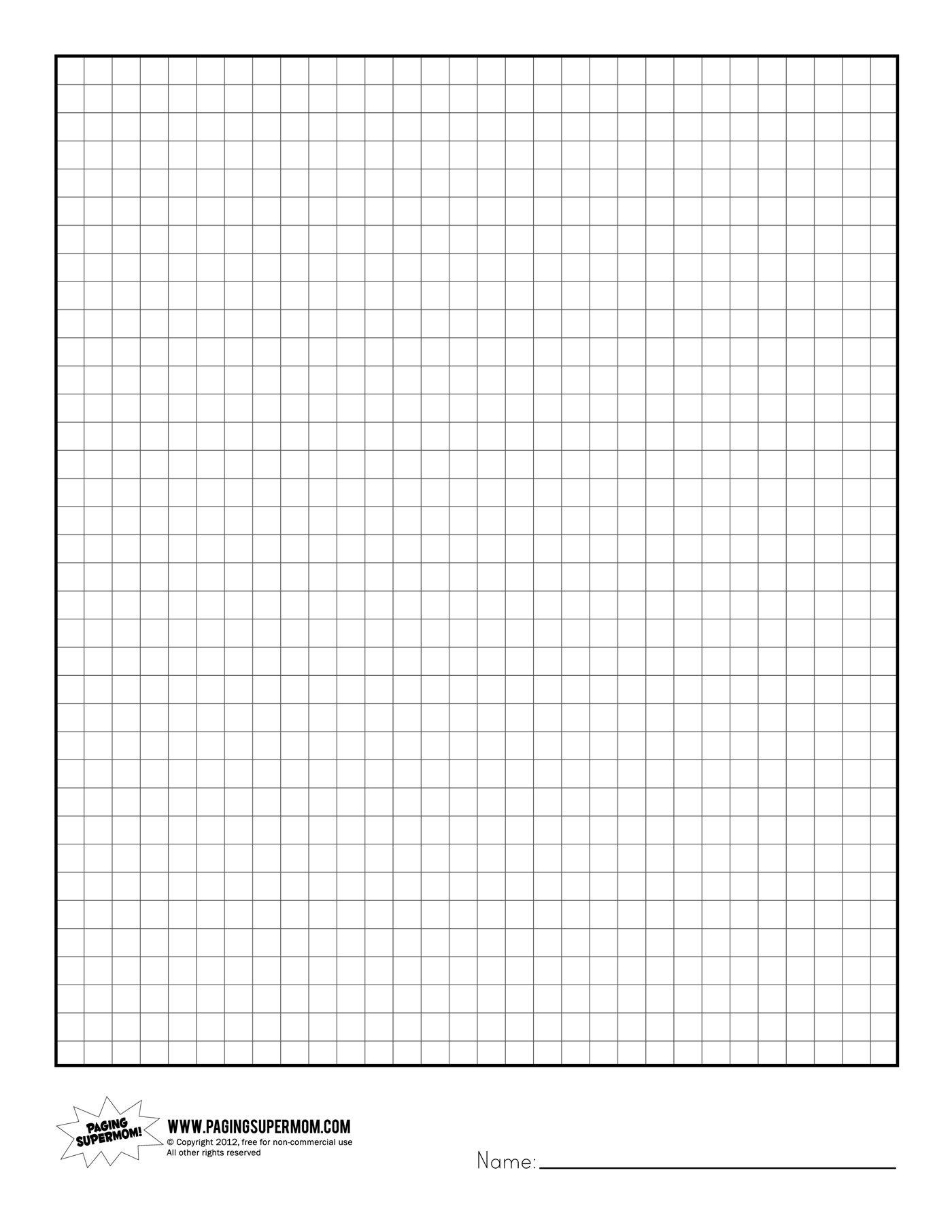 Printable Graph Paper | Healthy Eating | Grid Paper Printable - Free Printable Grid Paper