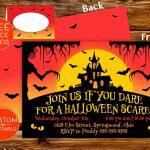 Printable Halloween Party Invitations Spooky Invite Custom | Etsy   Free Printable Halloween Place Cards