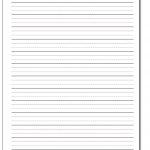 Printable Handwriting Paper   Elementary Lined Paper Printable Free