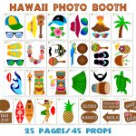 Printable Hawaii Photo Booth Props/ Luau Party Photo Props   Hawaiian Photo Booth Props Printable Free