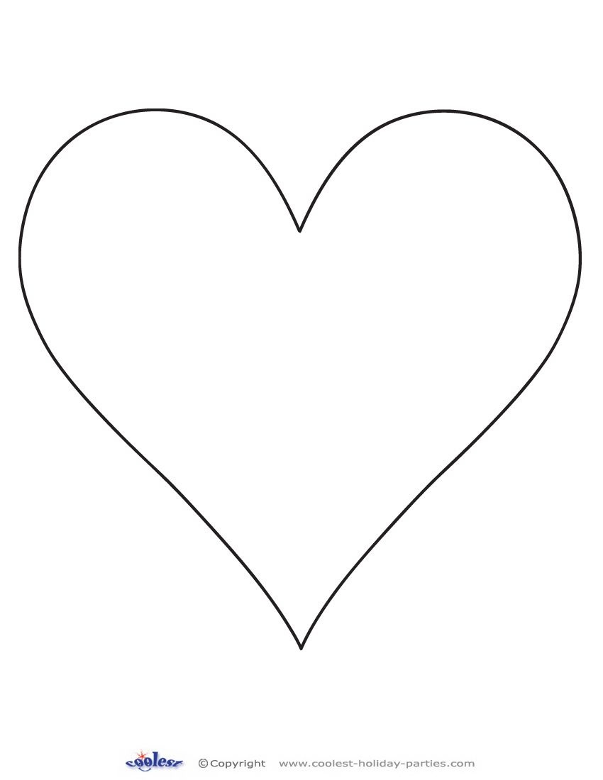 Printable Heart Cut Out 1 Coolest Free Printables | Classroom Crafts - Free Printable Valentine Heart Patterns