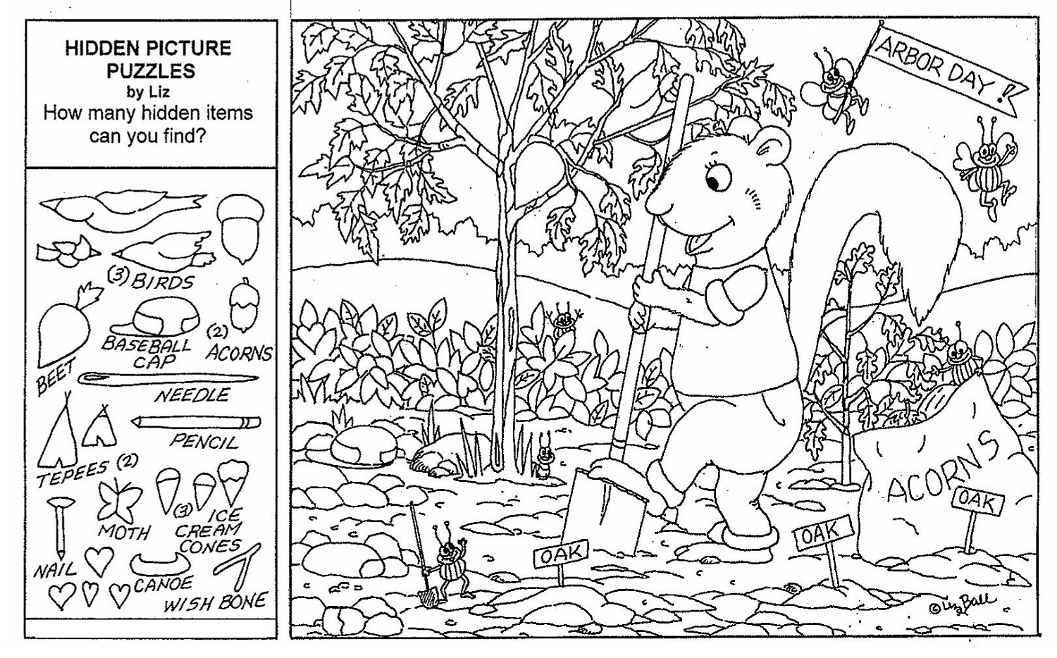 Printable Hidden Pictures Worksheets | Activity Shelter - Free Printable Hidden Picture Puzzles For Adults