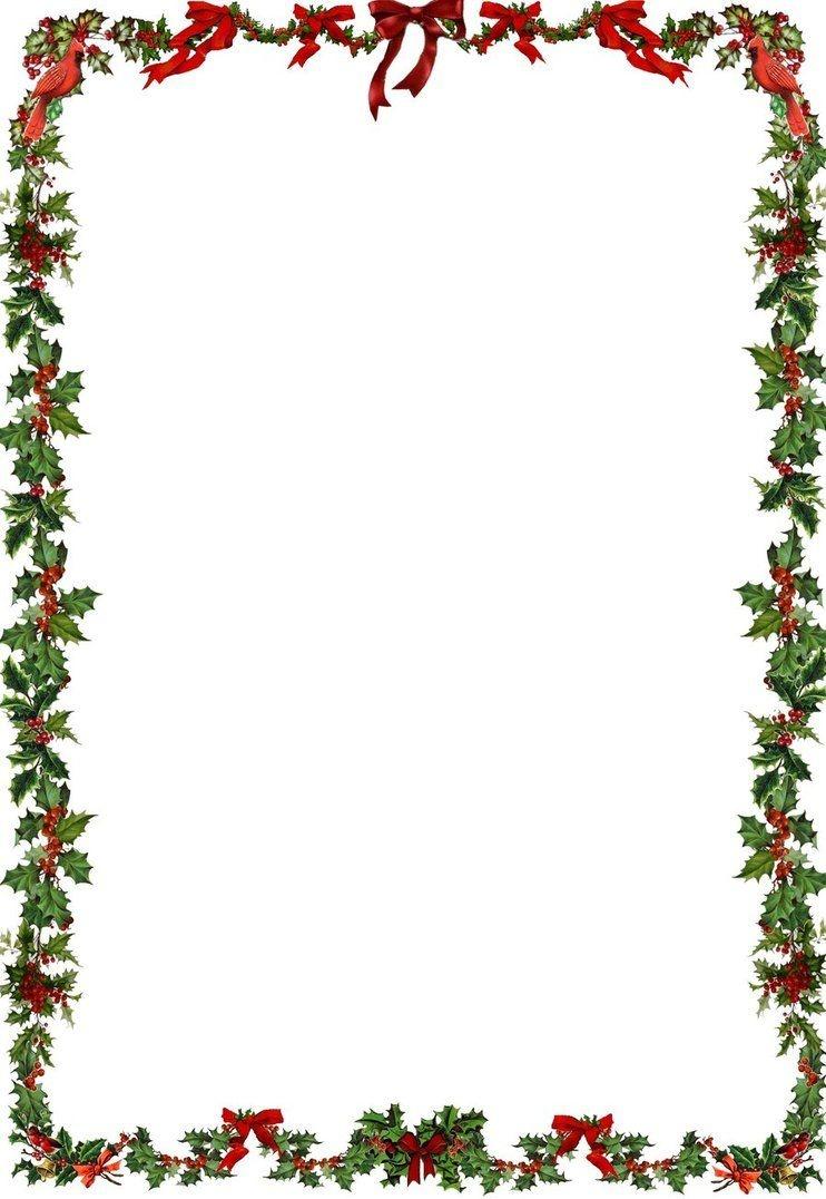 Printable Holiday Newsletter Border | Christmas & New Year's - Free Printable Christmas Frames And Borders