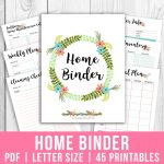 Printable Home Management Binder  Floral  A Cultivated Nest   Free Home Management Binder Printables 2017