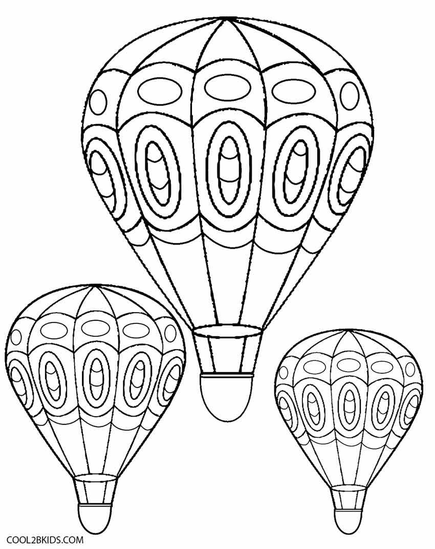 Printable Hot Air Balloon Coloring Pages For Kids | Cool2Bkids - Free Printable Pictures Of Balloons