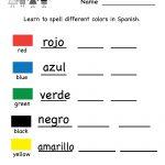 Printable Kindergarten Worksheets | Printable Spanish Worksheet   Free Printable Elementary Spanish Worksheets