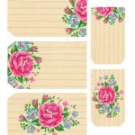 Printable Labels: Pretty Floral Tags   Free Pretty Things For You   Free Printable Floral Labels