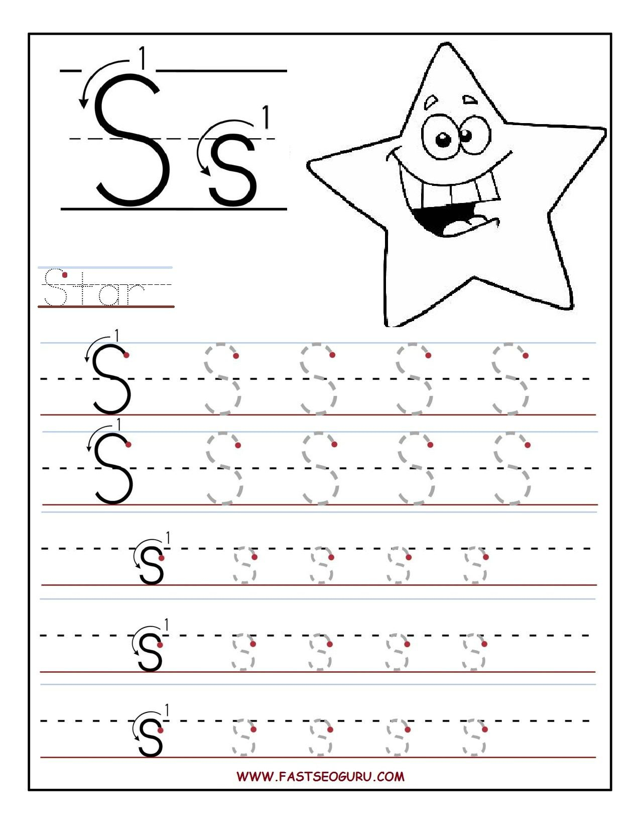 Printable Letter S Tracing Worksheets For Preschool | For The - Free Printable Preschool Worksheets Tracing Letters