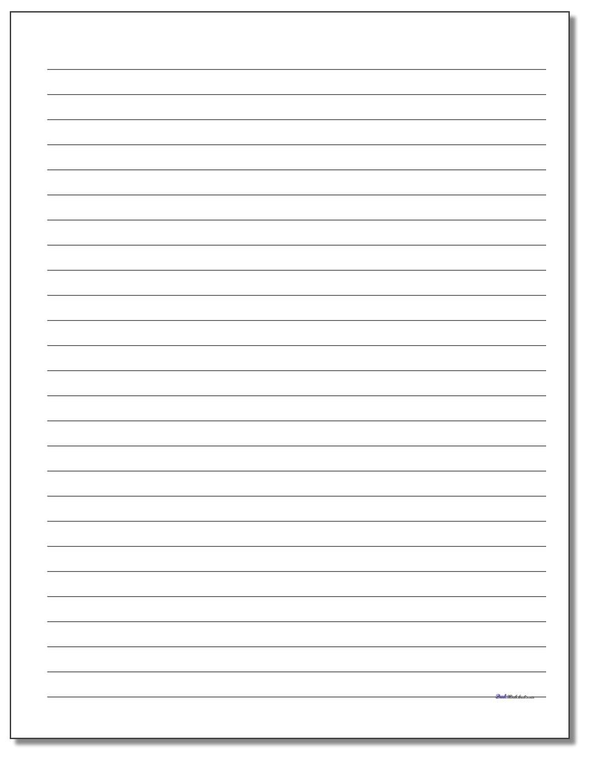 Printable Lined Paper - Free Printable Lined Paper