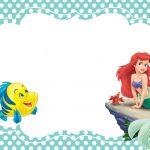 Printable Little Mermaid Invitation Card | Mermaid In 2019 | Little   Free Little Mermaid Printable Invitations