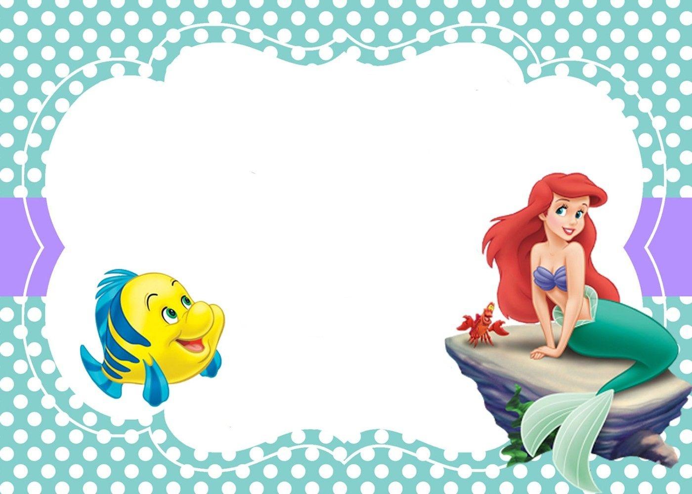 Printable Little Mermaid Invitation Card | Mermaid In 2019 | Little - Free Little Mermaid Printable Invitations