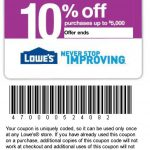 Printable Lowes Coupon 20% Off &10 Off Codes December 2016   Lowes 20 Printable Coupon Free