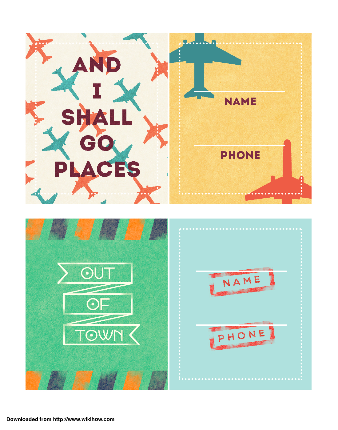 Printable Luggage Tags - Wikihow - Free Printable Luggage Tags