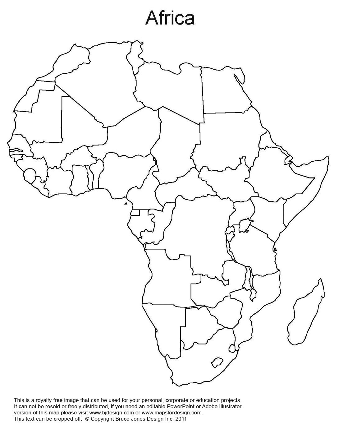 Printable Map Of Africa   Africa World Regional Blank Printable Map - Free Printable Worksheets On Africa
