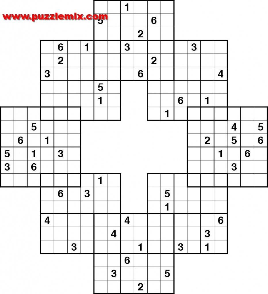 Printable Mega Sudoku Puzzles | Printable Sudoku Free - Sudoku High Fives Free Printable