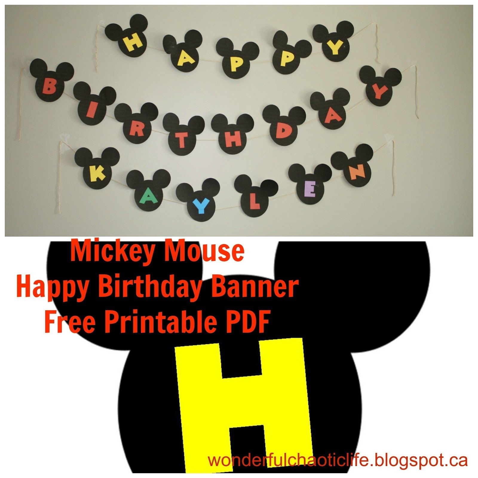Printable Mickey Mouse Birthday - Google Search | Disneyland - Free Printable Mickey Mouse Birthday Banner