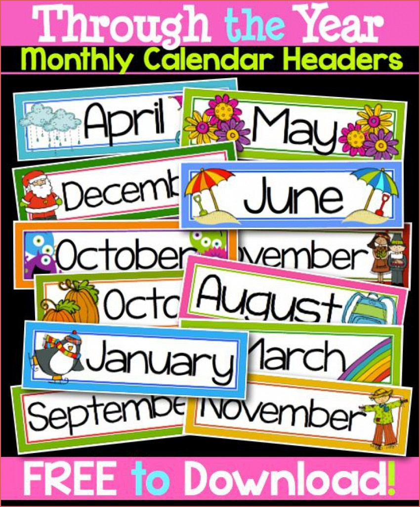 Printable Months Of The Year Labels Online Calendar Printable - Free Printable Months Of The Year Labels