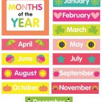 Printable Months Of The Year | Room Surf   Free Printable Months Of The Year
