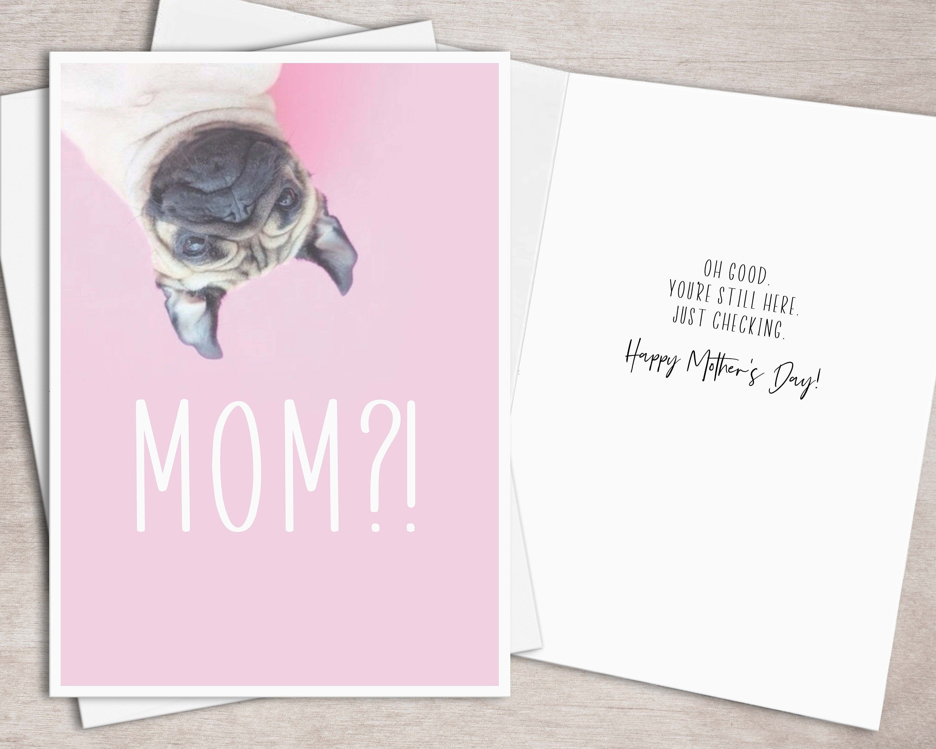 Printable Mothers Day Card For Dog Mom Instant Download // | Etsy - Free Printable Mothers Day Cards From The Dog
