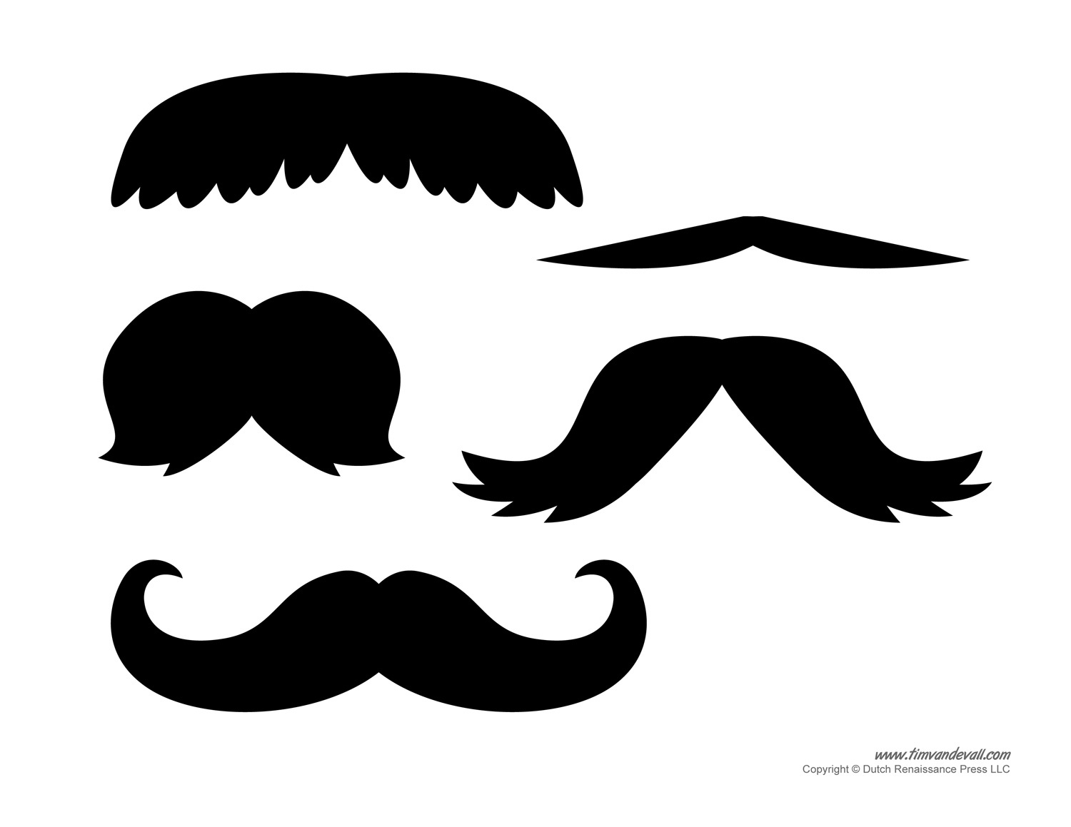 Printable Mustache Templates | Mustaches For Kids - Free Printable Mustache