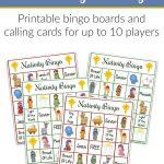 Printable Nativity Bingo Game | Christmas! | Nativity Bingo   Bible Bingo Free Printables