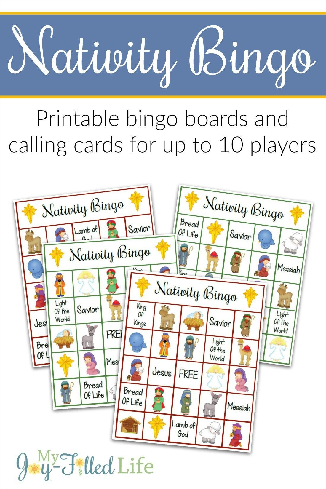 Printable Nativity Bingo Game | Christmas! | Nativity Bingo - Bible Bingo Free Printables