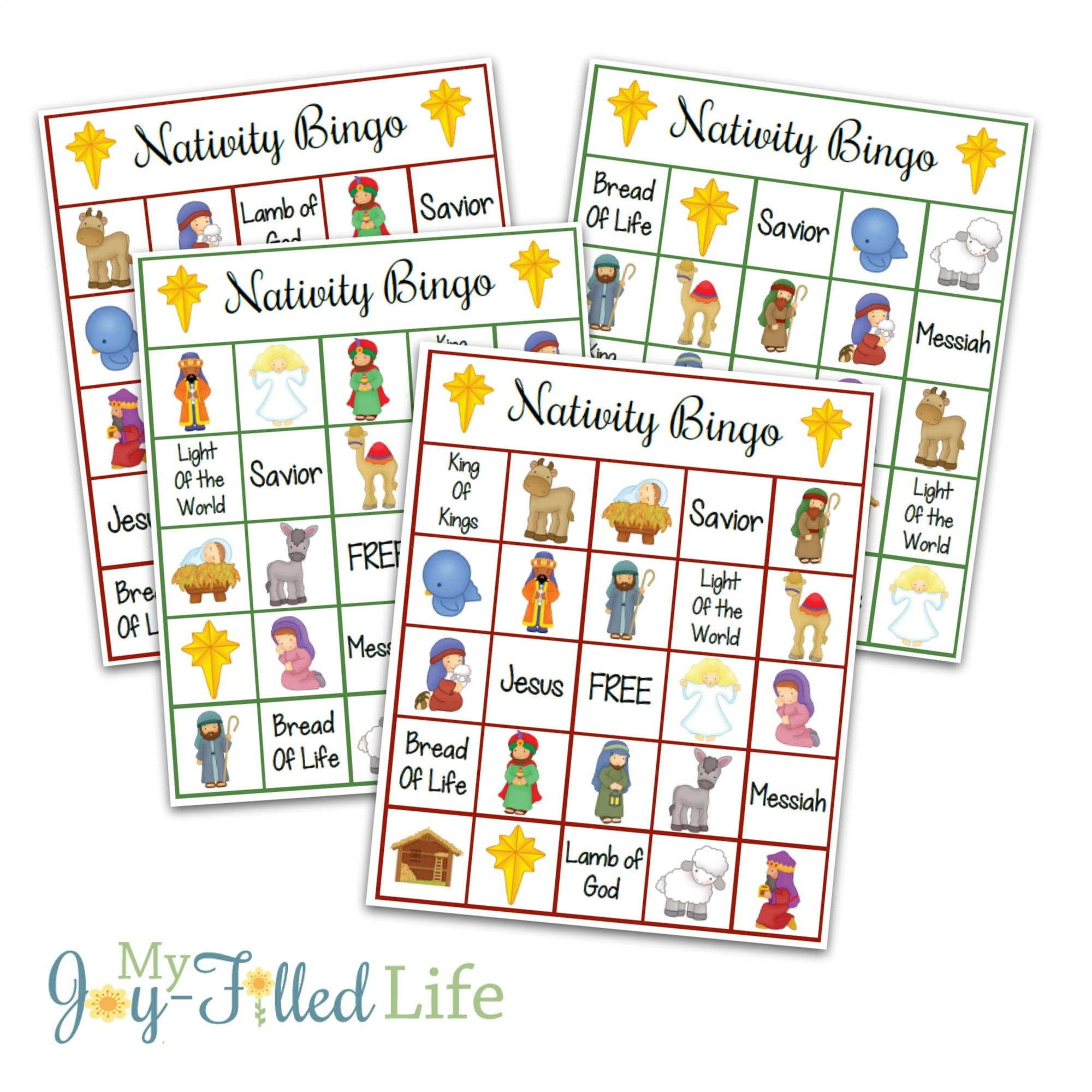 Printable Nativity Bingo Game | Games | Printable Christmas Games - Bible Bingo Free Printables