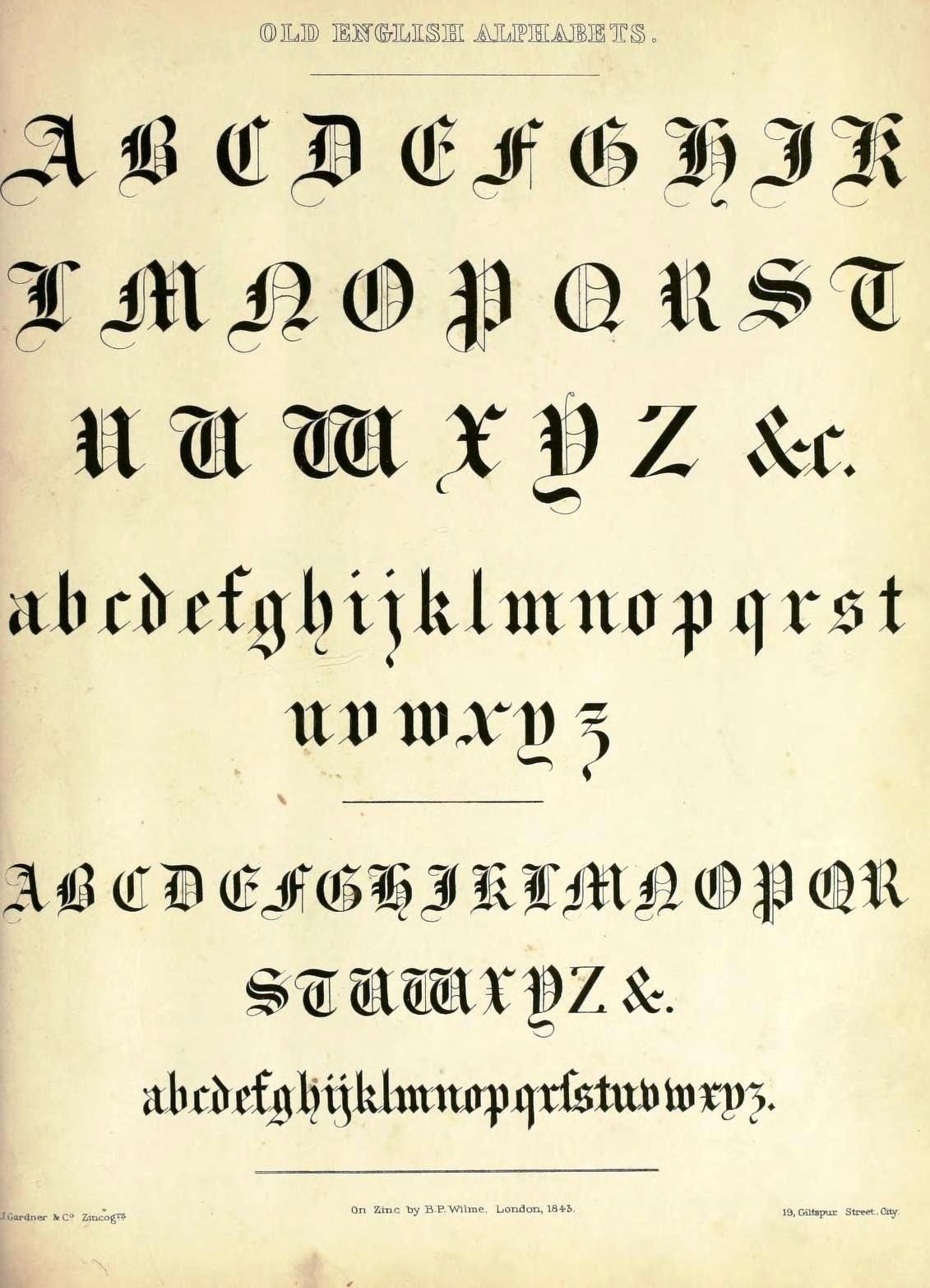 Printable Old English Font So, So Awesome | Journal Images - Free Printable Old English Letters