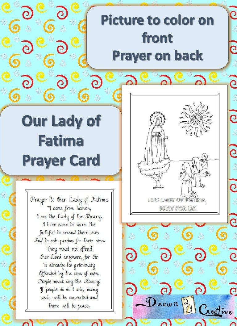 Printable Our Lady Of Fatima Prayer Cards | Catholic Printables - Free Printable Catholic Prayer Cards
