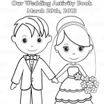 Printable Personalized Wedding Coloring Activity Book Favor Kids 8.5   Free Printable Personalized Wedding Coloring Book