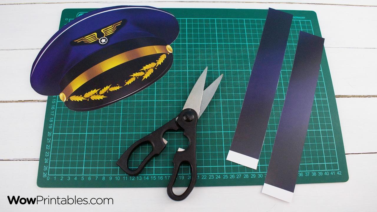 Printable Pilot Hat Templatewowprintables - Download Now! - Free Printable Pilot Hat Template