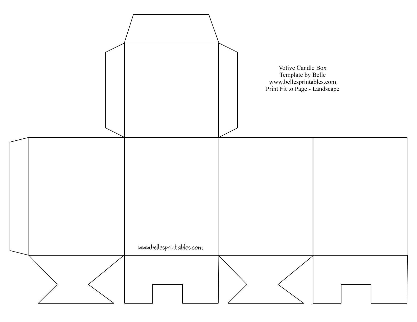 Printable Purse Template | Cute Paper Gift Box With Free Printable - Free Printable Box Patterns