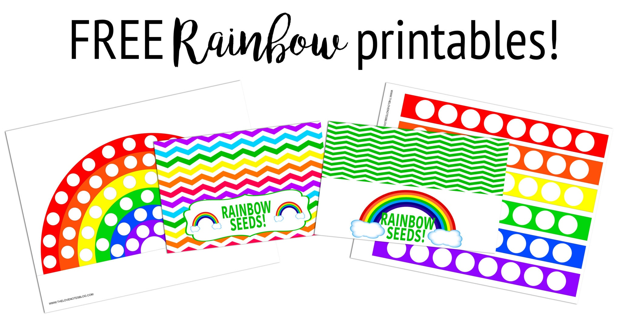 Printable Rainbow Activity – The Love Notes Blog - Free Rainbow Printables
