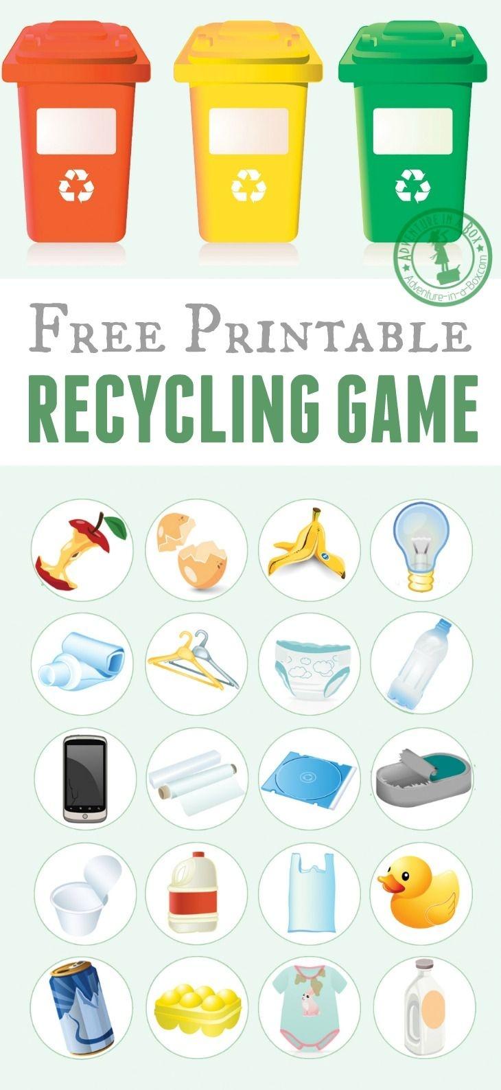 Printable Recycling Game   Free Printable Of The Day   Recycling - Free Printable Recycling Worksheets
