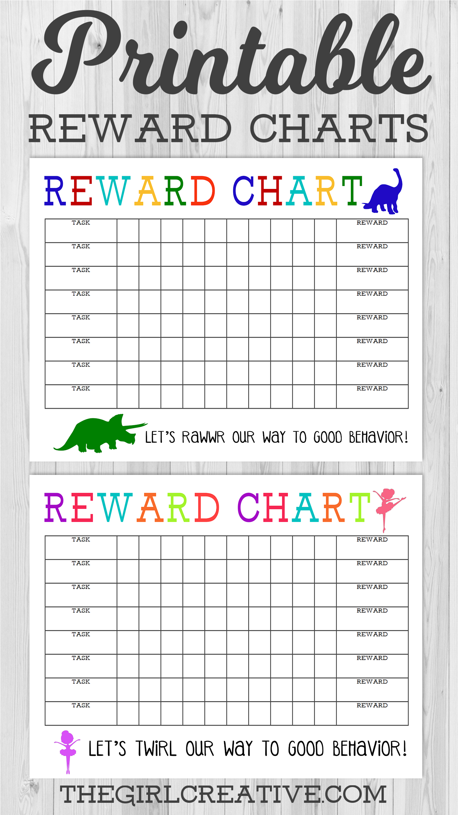 Printable Reward Chart - The Girl Creative - Free Printable Behaviour Charts For Home