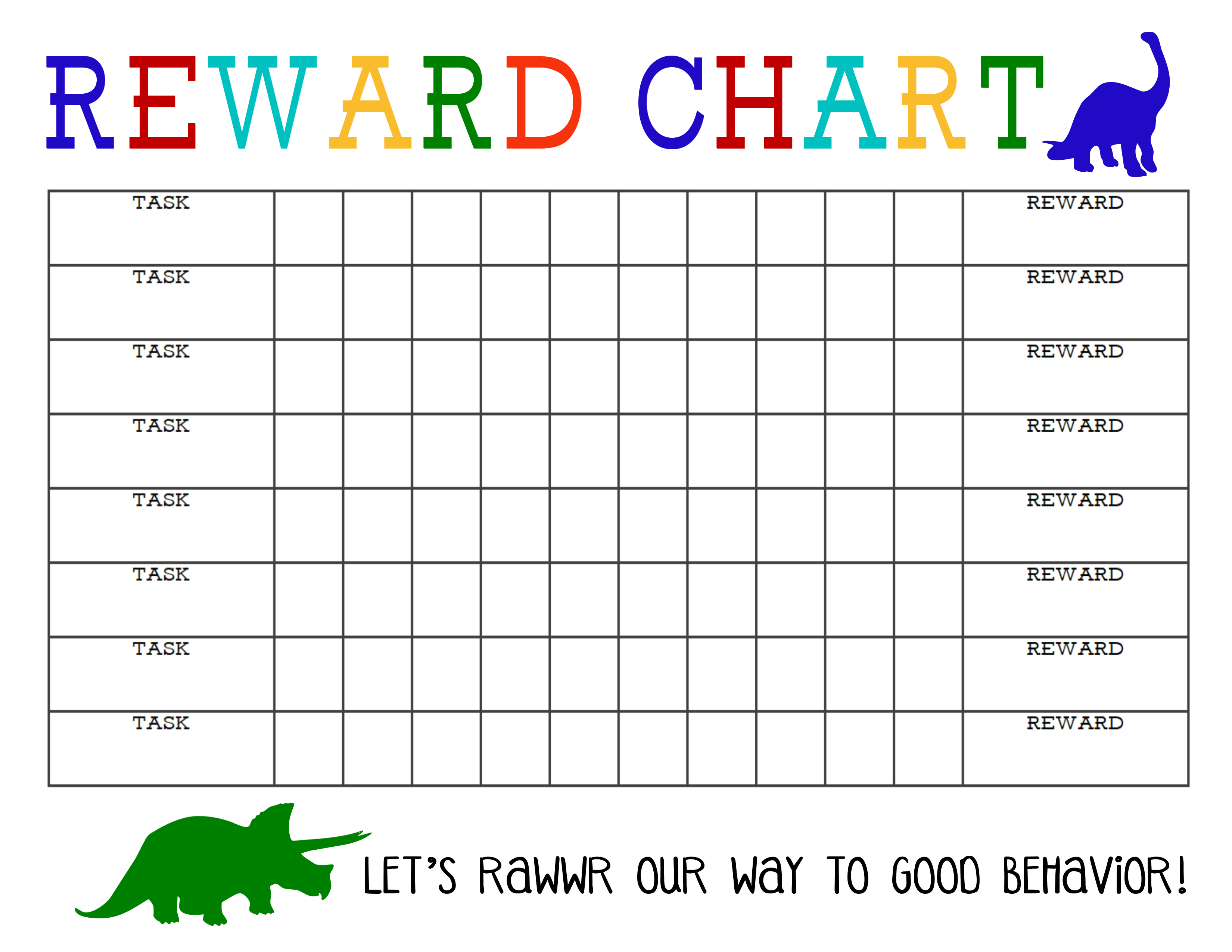 Printable Reward Chart - The Girl Creative - Reward Charts For Toddlers Free Printable