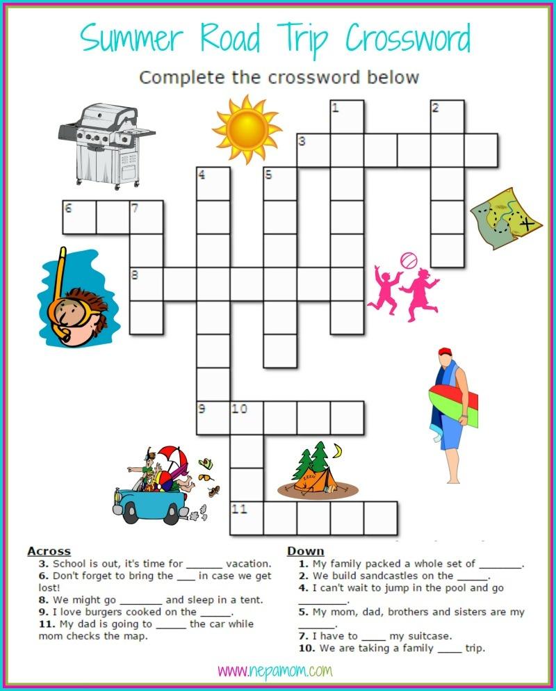 Printable Road Trip Games - Good Food And Family Fun - Free Printable Summer Games