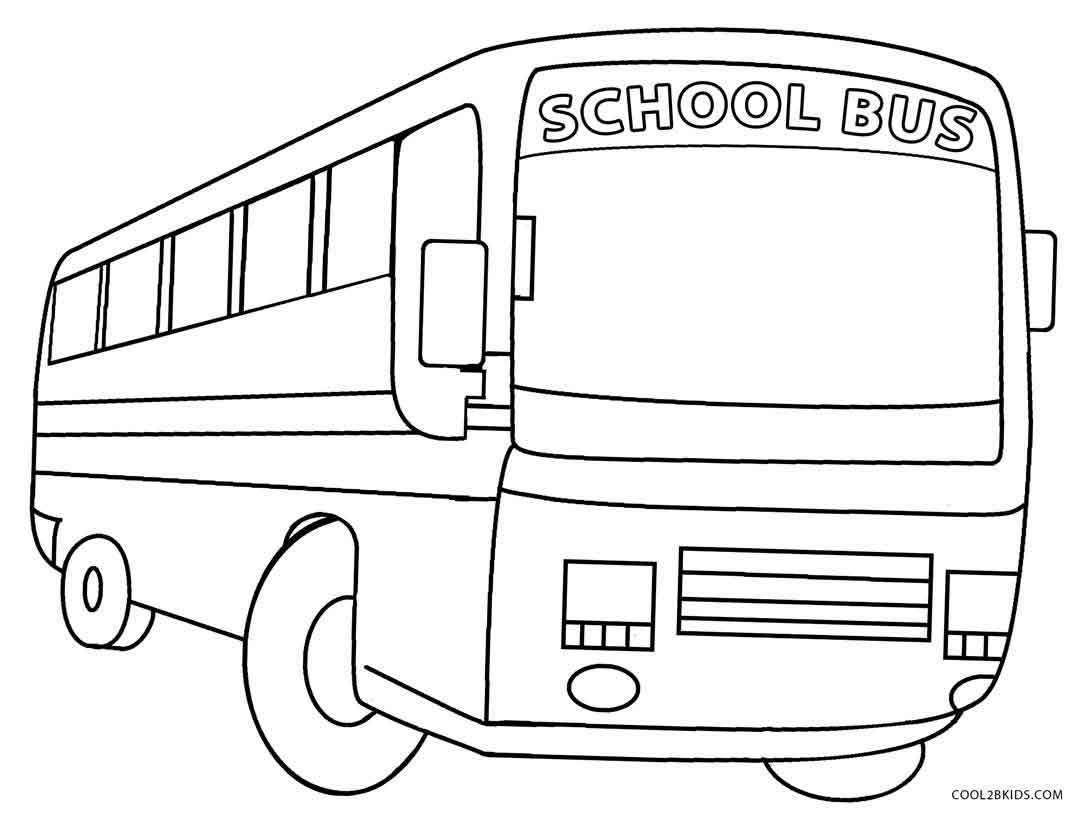 Printable School Bus Coloring Page For Kids | Cool2Bkids - Free Printable School Bus Coloring Pages