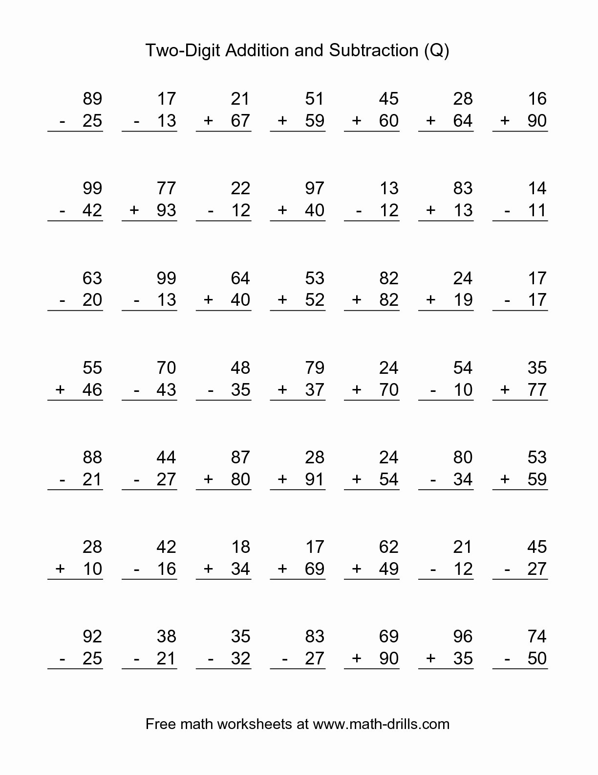 Printable Second Grade Math Worksheets To Free Download - Math - Free Printable Second Grade Math