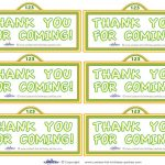 Printable Sesame Street Sign Thank You Cards   Coolest Free   Free Printable Sesame Street Sign Template