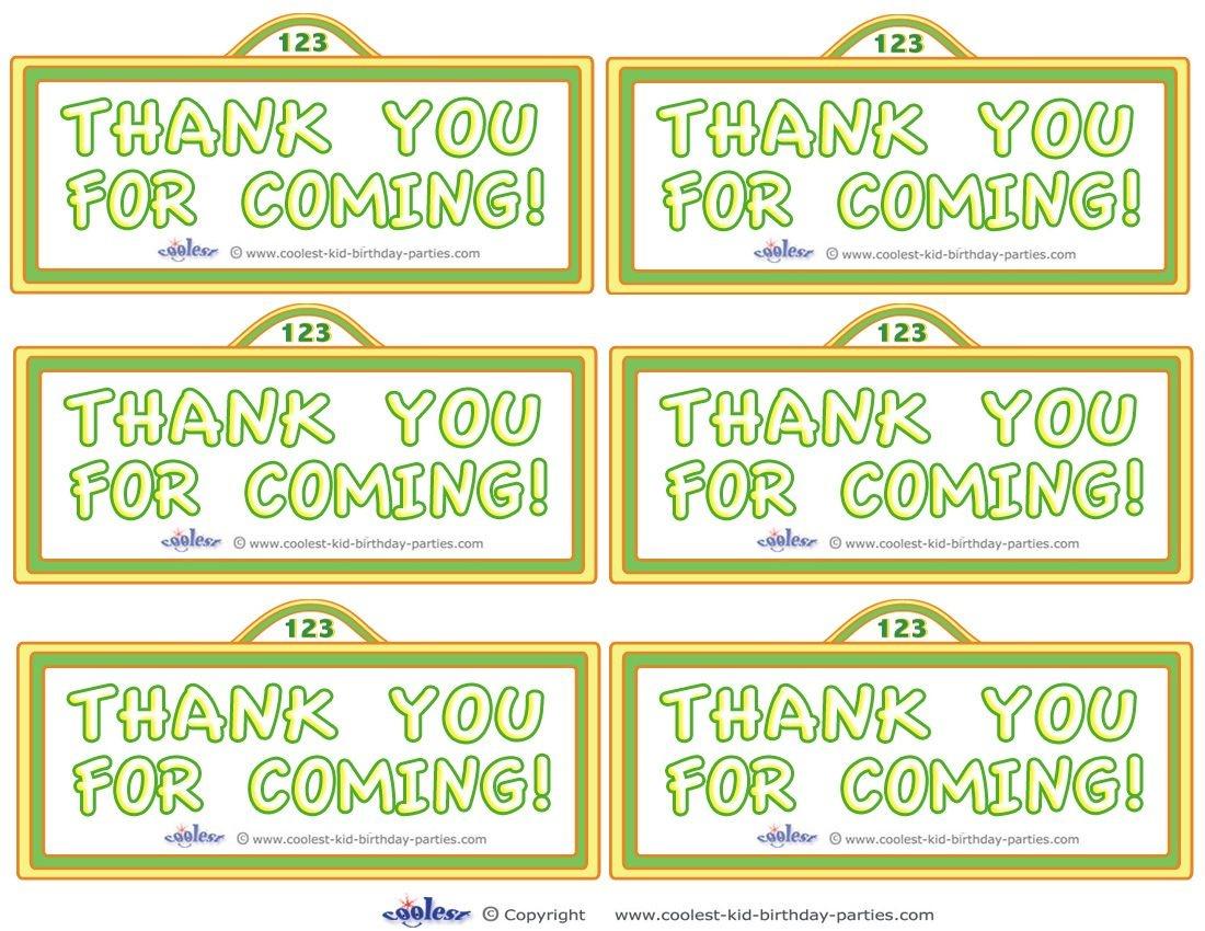 Printable Sesame Street Sign Thank You Cards - Coolest Free - Free Printable Sesame Street Sign Template
