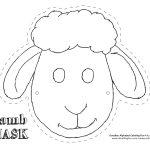 Printable Sheep Mask Template | Art | Sheep Mask, Mask Template   Animal Face Masks Printable Free