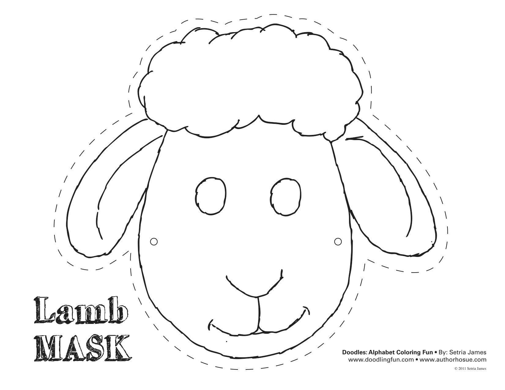 Printable Sheep Mask Template | Art | Sheep Mask, Mask Template - Animal Face Masks Printable Free