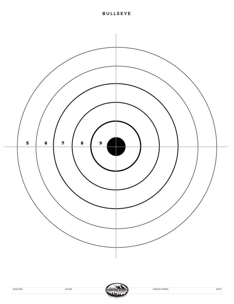 Printable Shooting Targets And Gun Targets • Nssf - Free Printable Bullseye