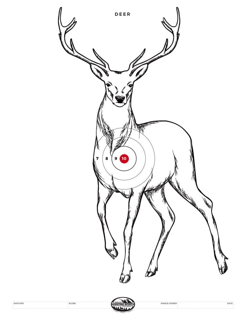 Printable Shooting Targets And Gun Targets • Nssf - Free Printable Nra 25 Targets
