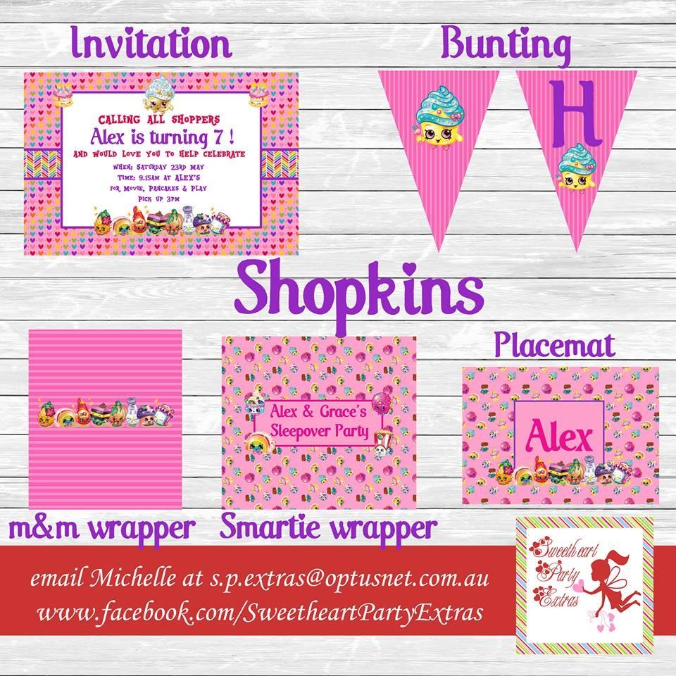 Printable Shopkins List - Design Templates - Free Shopkins Party Printables