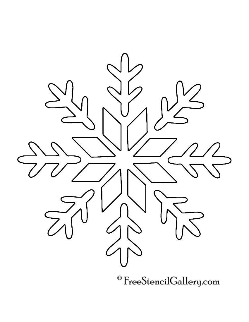 Printable Snowflakes Stencils Snowflake Stencil 09 | Sharpie Diy - Free Printable Snowflake Patterns